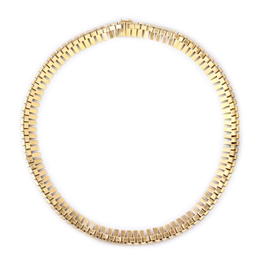 Retro Gold Collar Necklace