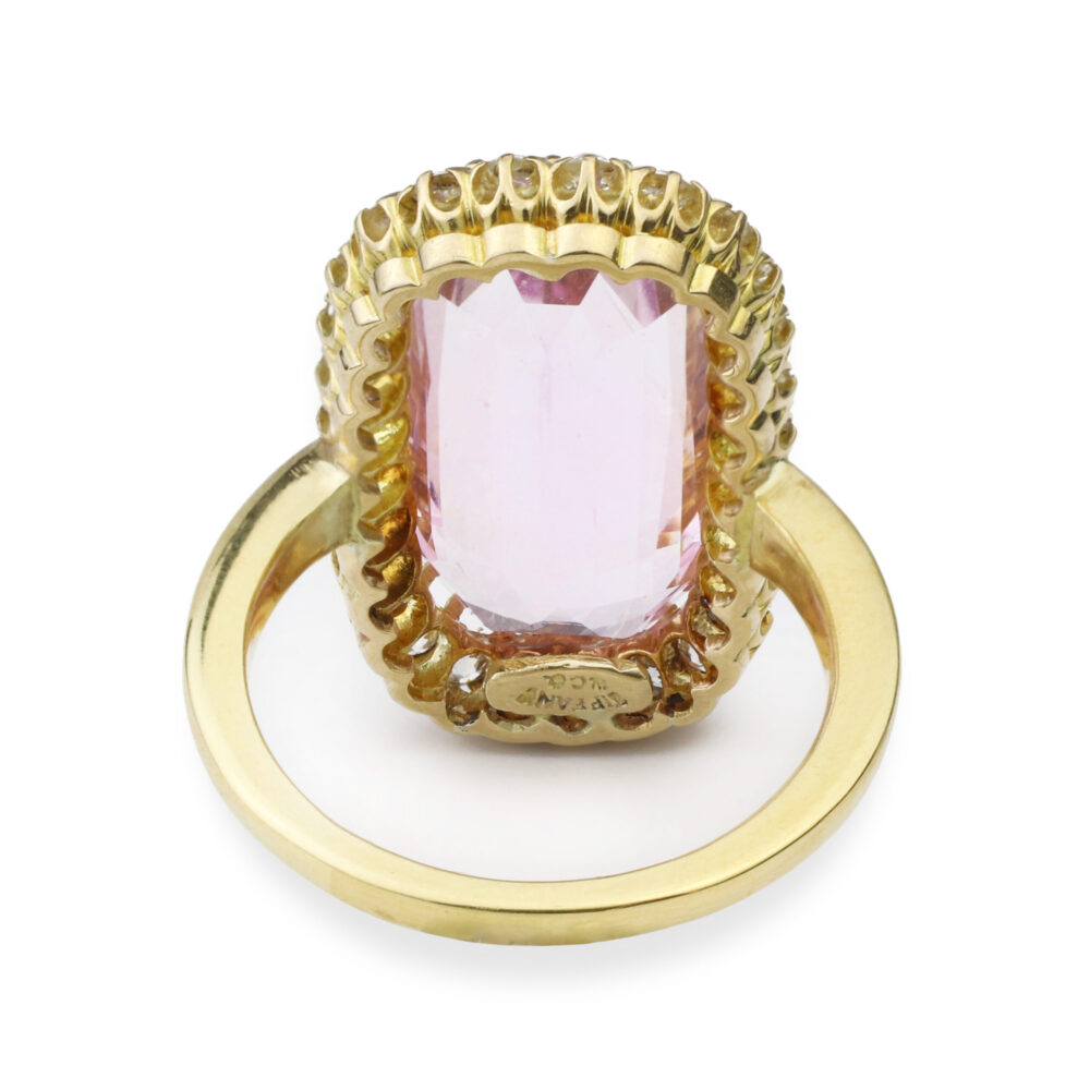Tiffany & Co. Pink Topaz and Diamond Ring