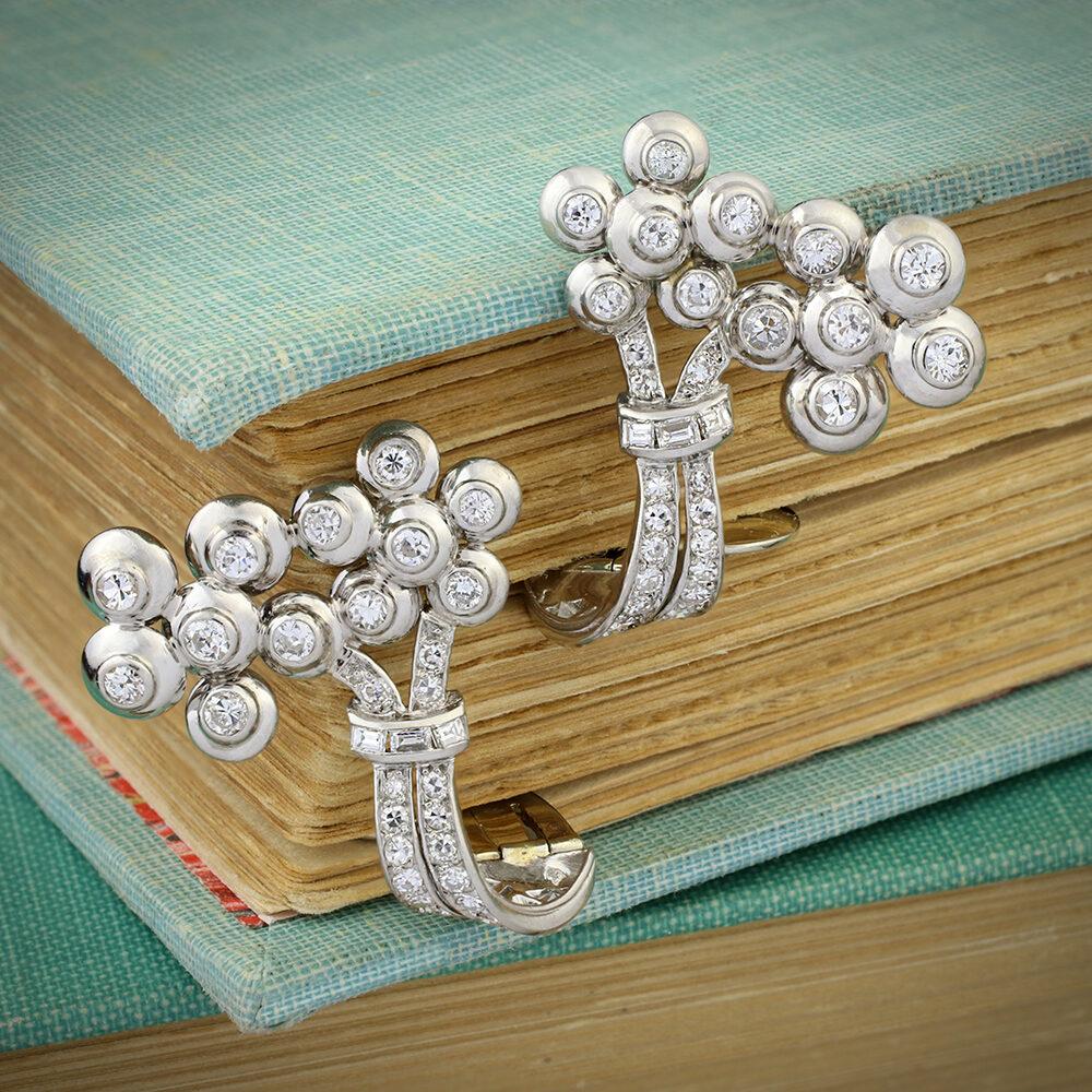 Mauboussin Diamond and Platinum Ear Clips