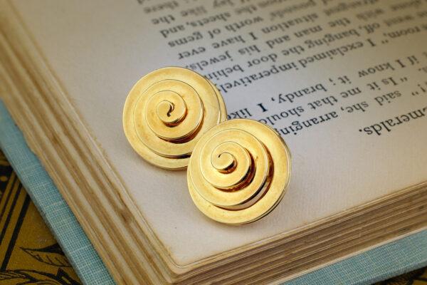 Bulgari Gold Spiral Ear Clips