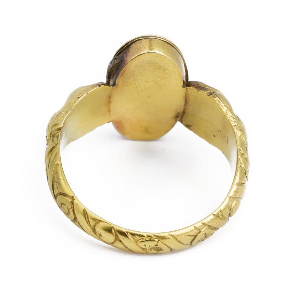 Renaissance Revival Gold and Diamond 'Poison' Ring, circa 1820