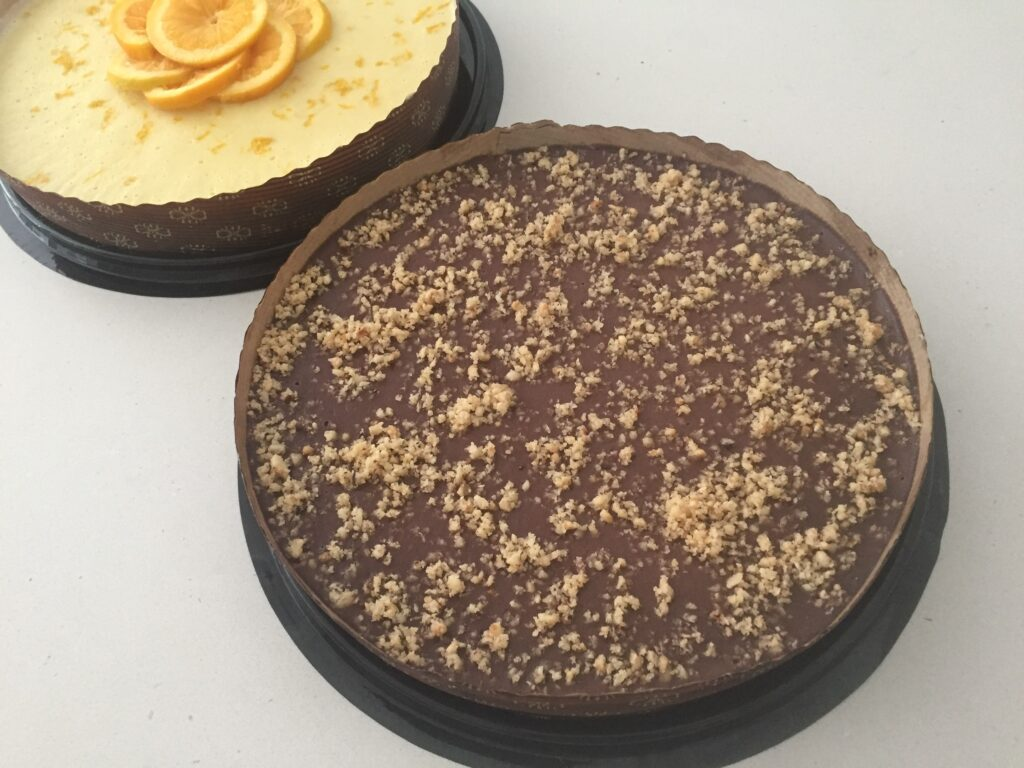 vegan passover chocolate and orange tarts