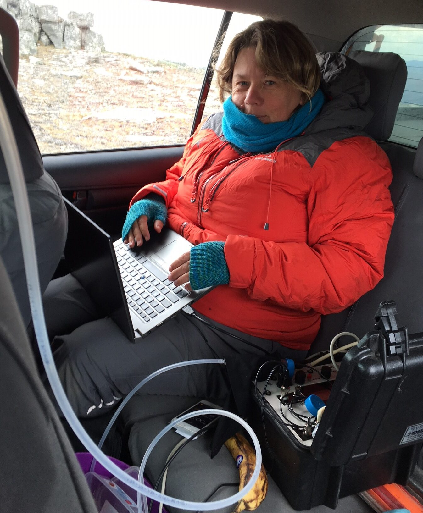 Cilla at fieldwork