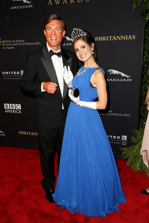 Ed Gamble Fake Tan Amy Hoggart Tiara BAFTA Los Angeles 2014 Britannia Awards