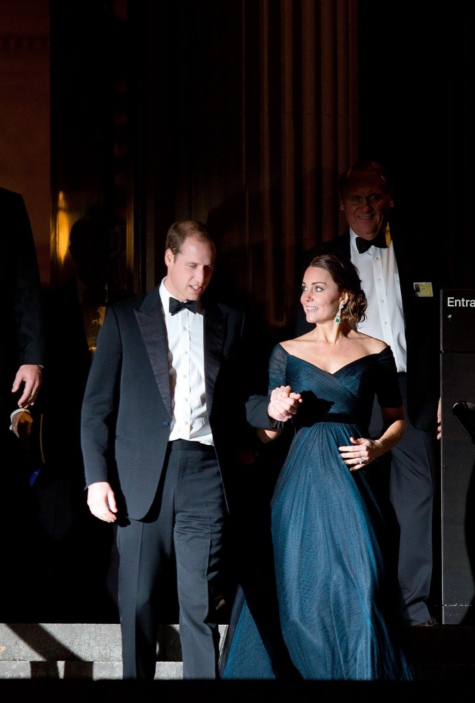 Prince William Kate Middleton Jenny Packham Gown Metropolitan Museum of Art 2014