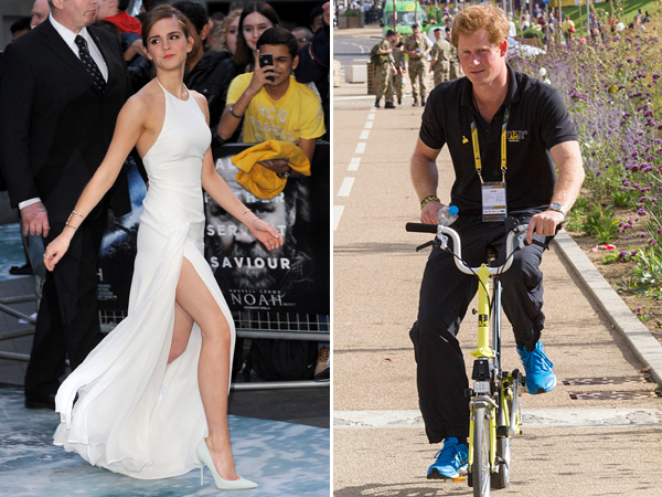 Emma Watson White Ralph Lauren Gown Prince Harry Rides Bike
