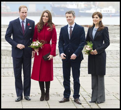 Kate Middleton Red LK Bennett Coat Copenhagen