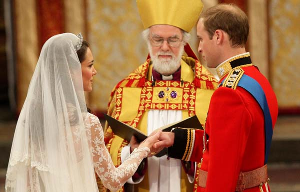 Prince William Kate Middleton Westminster Abbey Altar Wedding Vows