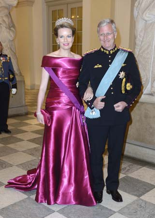 King Phillipe Queen Mathilde 75th Birthday of Queen Margrethe of Denmark