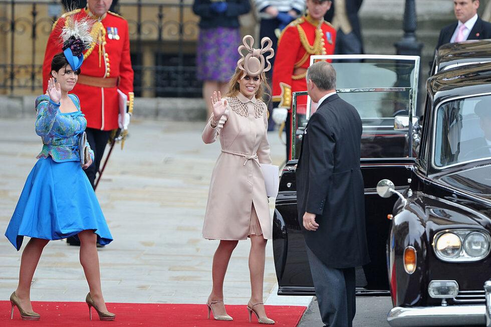 Princess Eugenie Princess Beatrice Kooky Hats Royal Wedding 2011