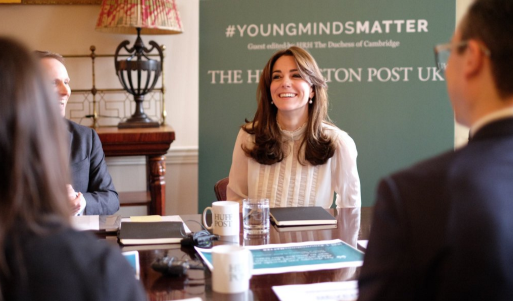kate middleton laughs kensington palace huffington post UK