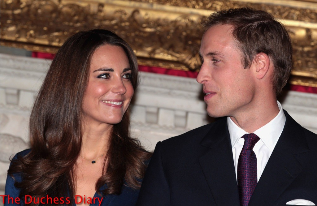 kate middleton smiles prince william engagement photocall clarence house