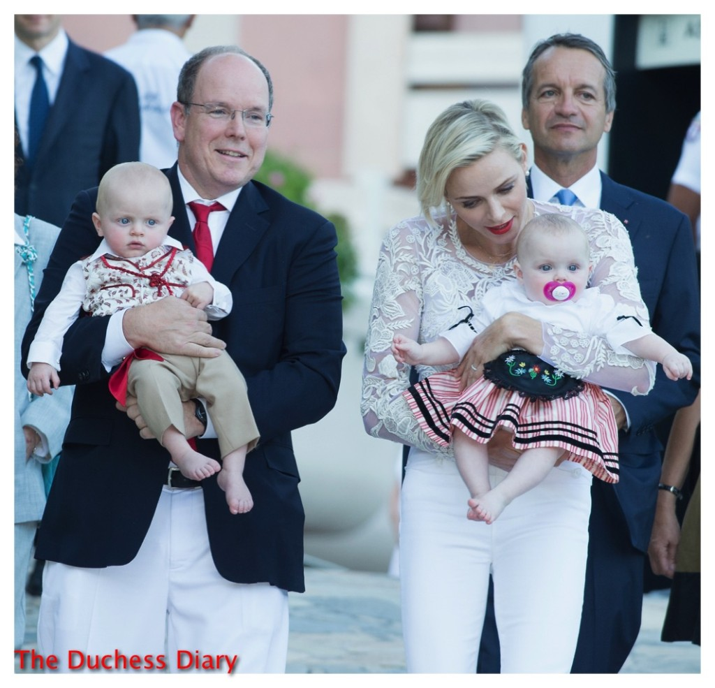 prince albert princess charlene twins pique nique monegasque