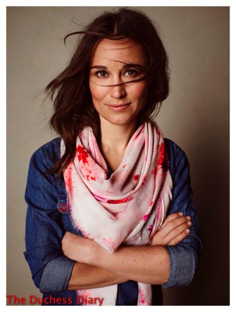 pippa middleton designs scarf british heart foundation