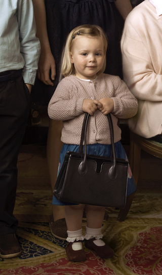 Mia Tindall Holds Queen's Purse