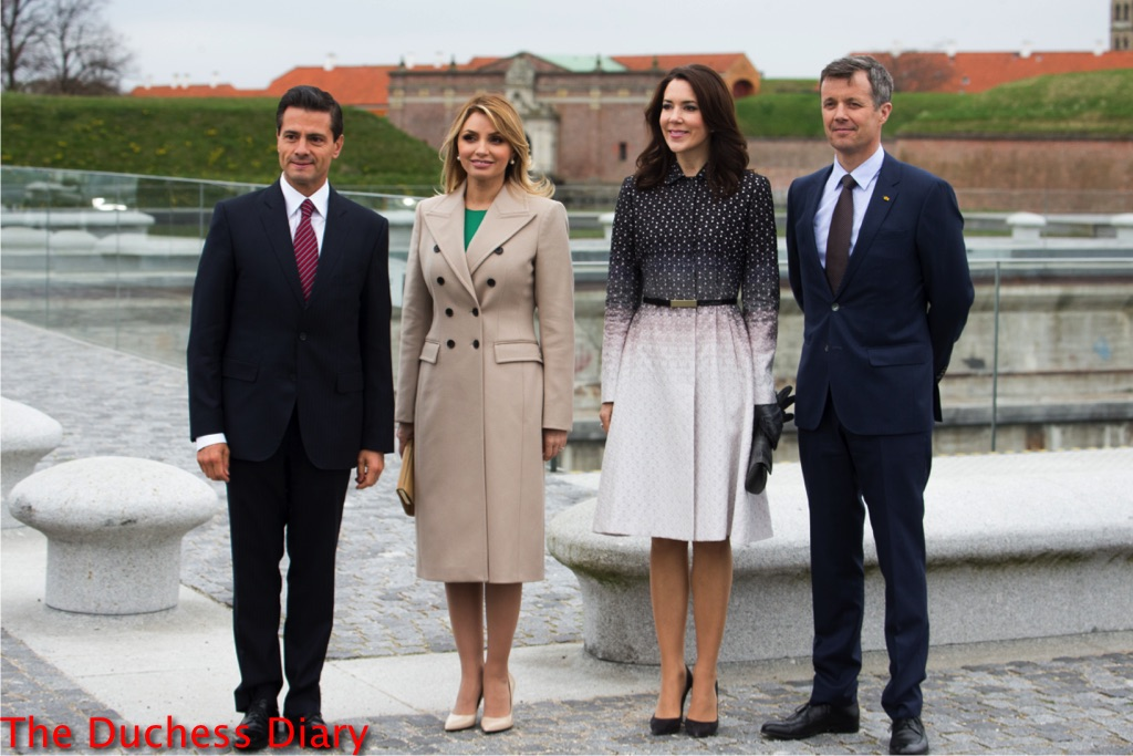 crown princess mary ombre coat mexico state visit welcome