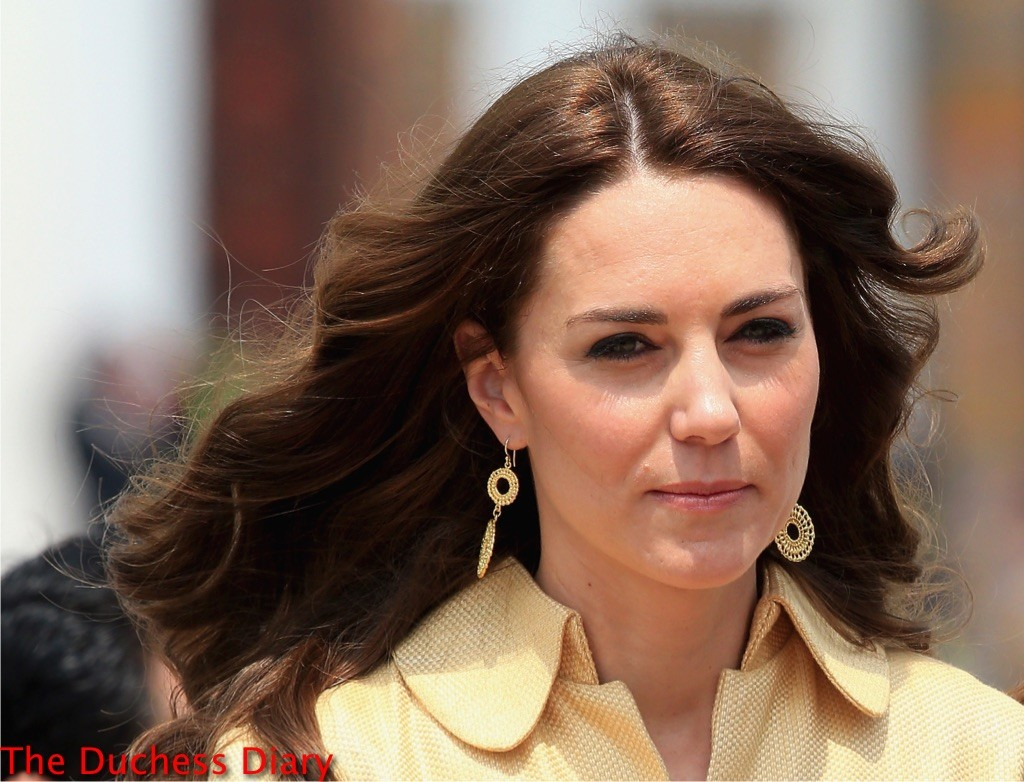 kate middleton earrings close up lands bhutan royal tour