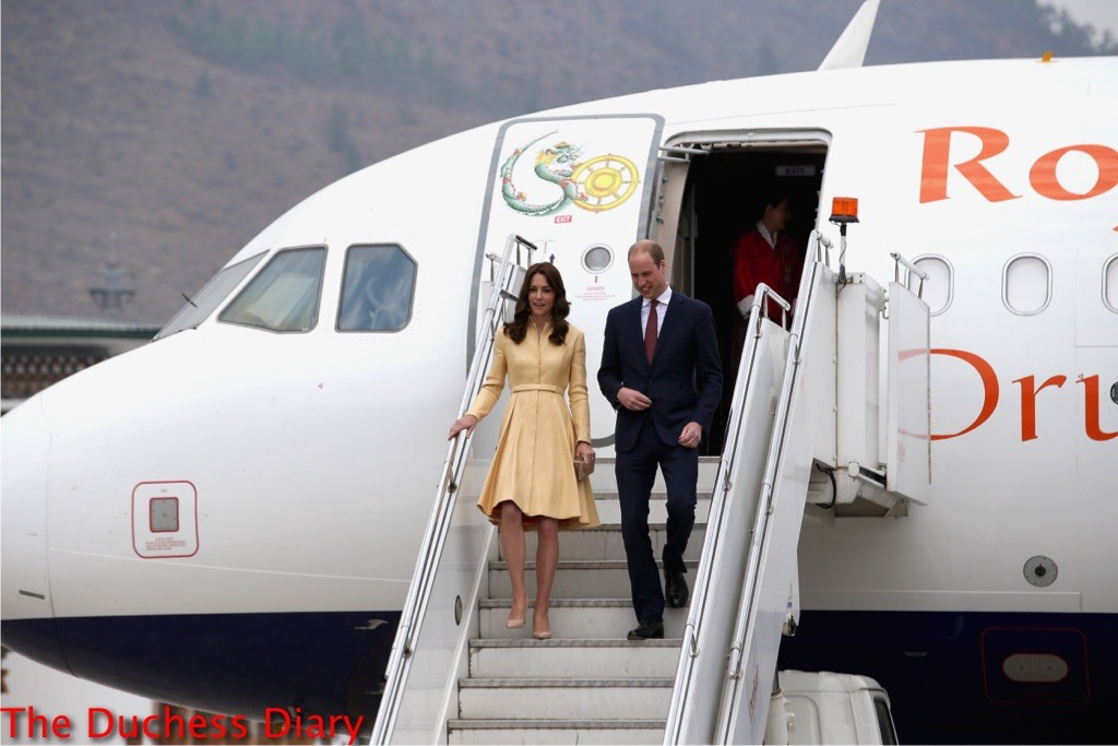 kate middleton emilia wickstead coat prince william land bhutan