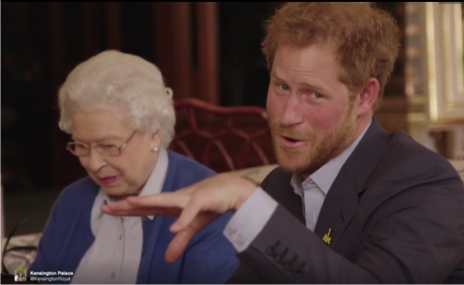 prince harry mic drop queen elizabeth