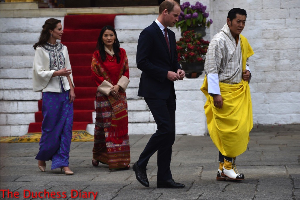 kate middleton white paul joe cape bhutan prince william bhutanese royal couple