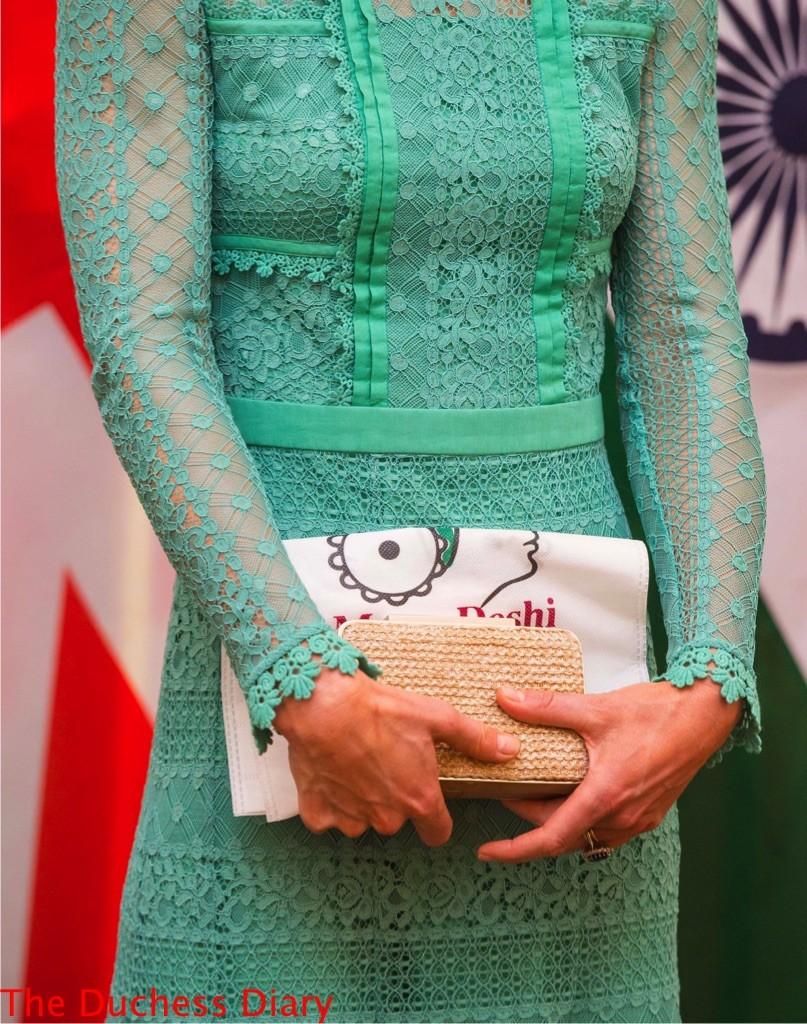 kate middleton close up temperley london dress india