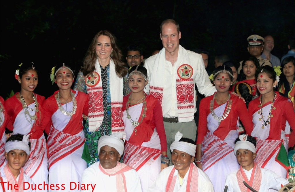 prince william kate middleton pose bihu festival celebration
