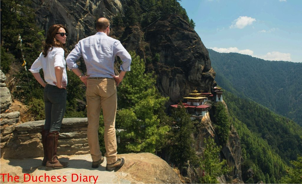 prince william kate middleton overlook tiger's nest monastery