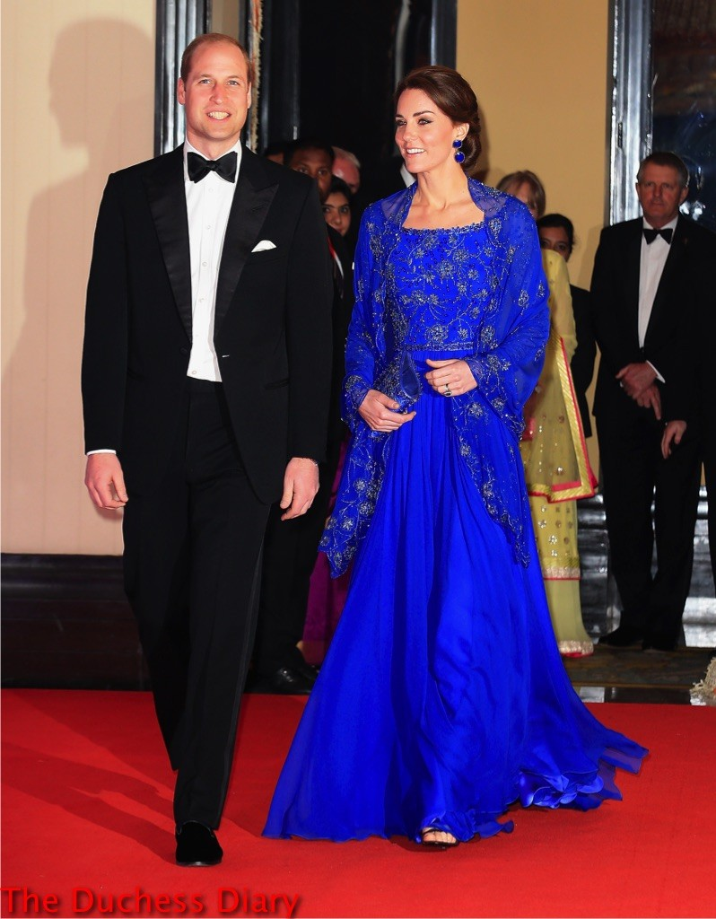 prince william tuxedo kate middleton jenny packham gown mumbai