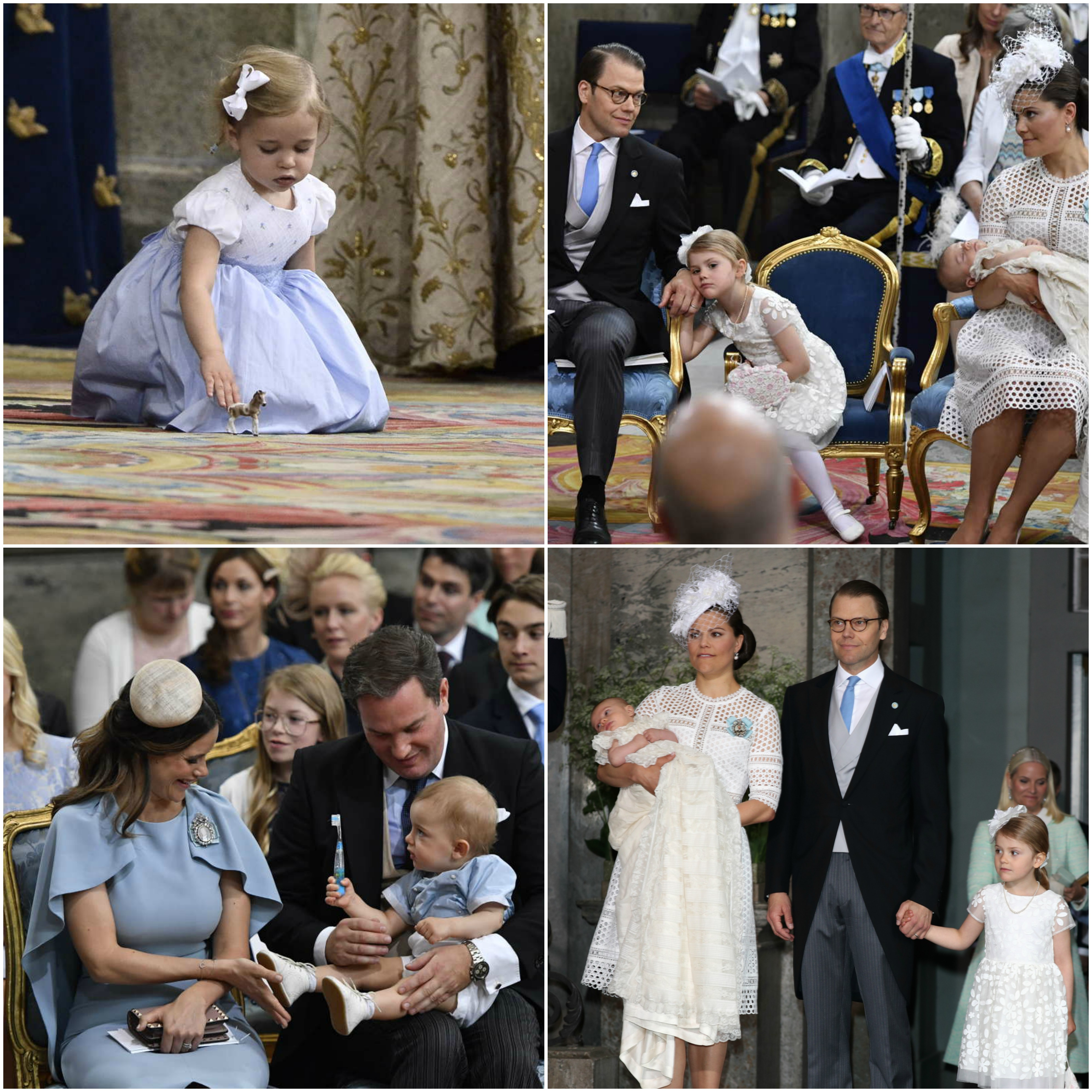 various photos swedish royal family celebrates prince oscar christneing