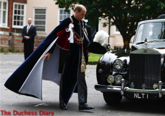 prince william knight garter robes windsor castle
