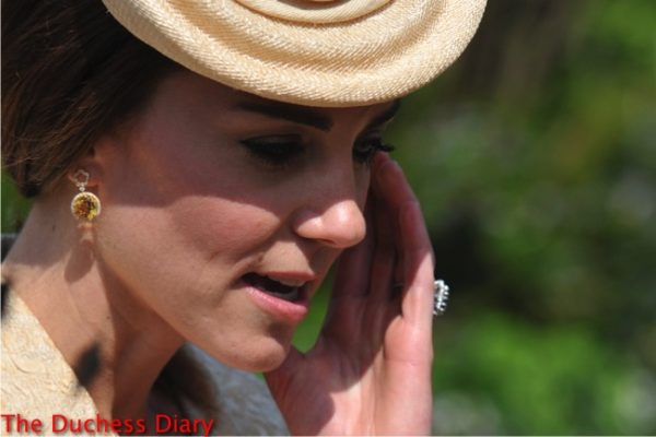 duchess cambridge kiki mcdonough eden citrine drop earrings northern ireland garden party
