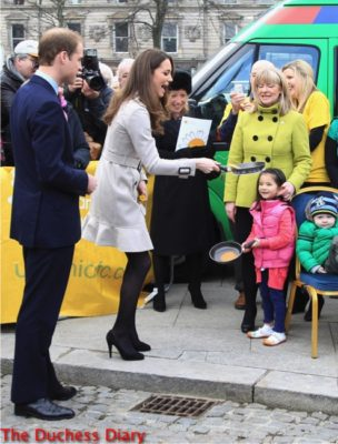 kate middleton flips pancake city hall belfast northern ireland