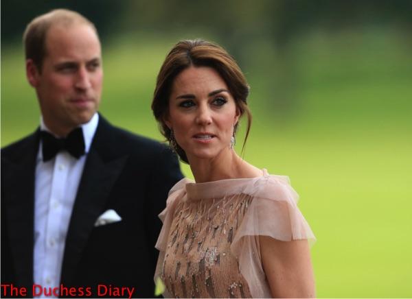 prince william tuxedo catherine duchess cambridge speak guests houghton hall