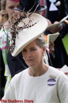 sophie countess wessex fascinator day one royal ascot 2016