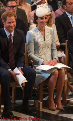 duchess of cambridge smiles prince harry smiles