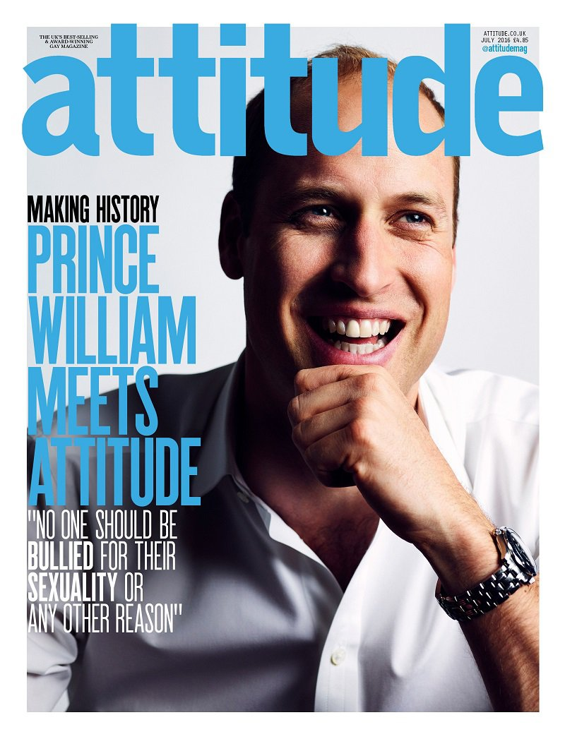 prince william cover lgbtq magazine attitude juyl 2016