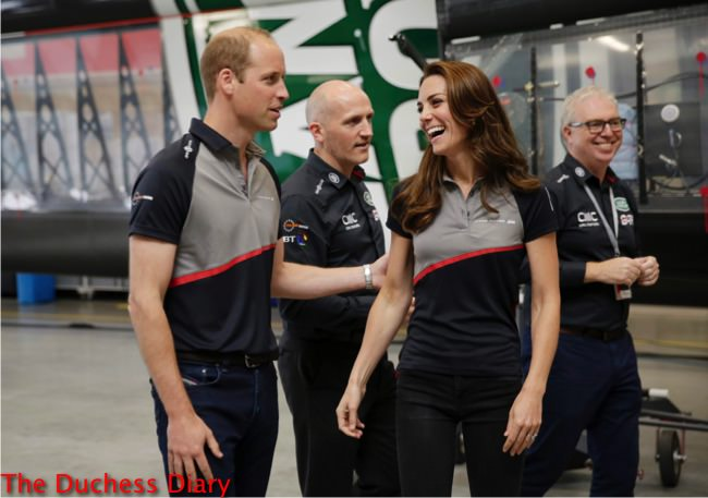 Prince William makes duchess cambridge laugh land rover bar