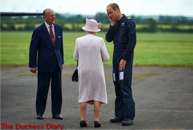 prince william hand to face east anglia air ambulance base queen elizabeth II prince philip