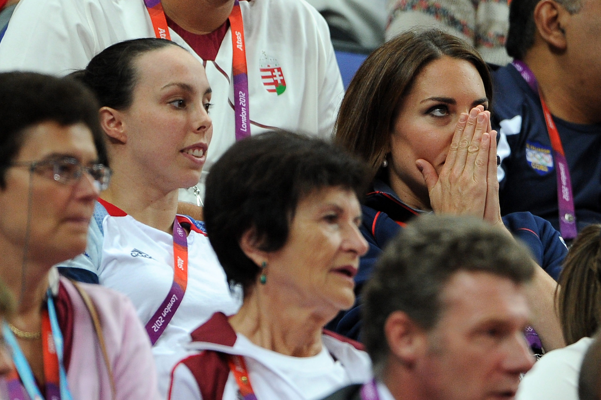 Kate Middleton Reacts To Watch Gymnastics Day Night Olympics Summer 2012 London