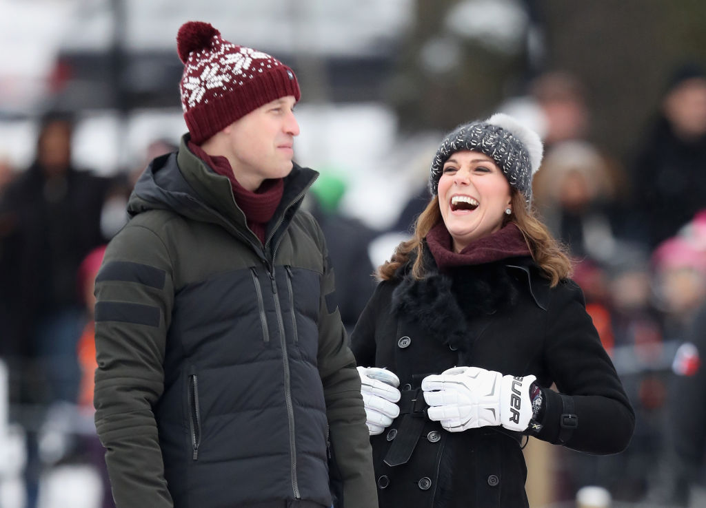 Prince William Kate Middleton Winter Hats Laugh Sweden