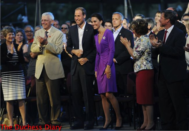 prince william suit jacket kate middleton purple issa dress canada day evening celebrations