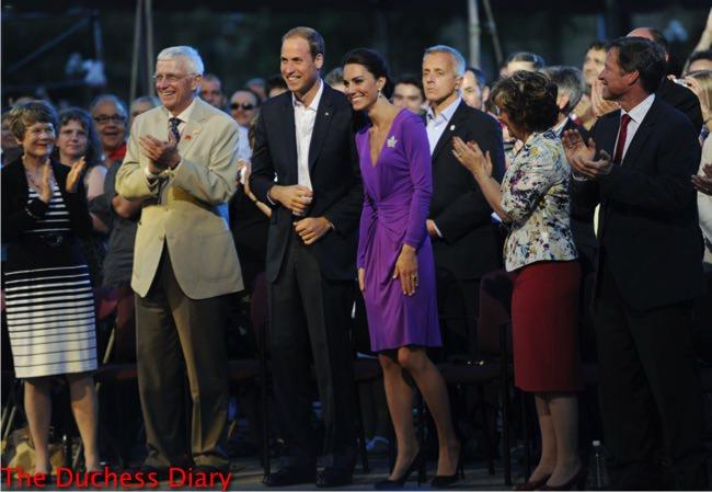 prince william suit jacket kate middleton purple issa dress canada day evening celebrations