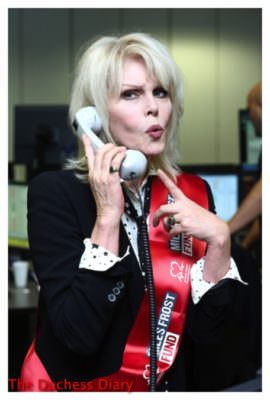 joanna lumley phone bgc annual global charity day