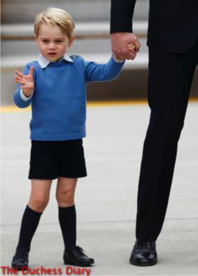prince george waves crowds victoria canada tarmac