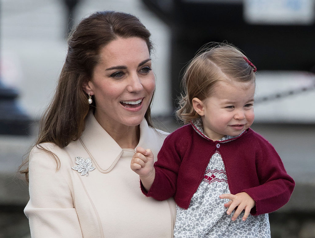 Kate Middleton Holds Princess Charlotte As They End Their 2016 Royal Tour of Canada