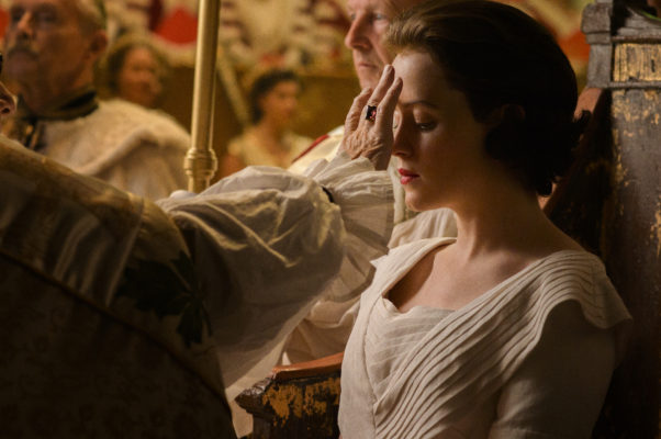Claire Foy The Crown Anointed Corontion