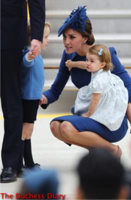 kate middleton speaks prince george princess charlotte excited victoria airport