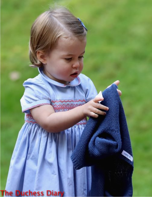 princess charlotte confused cardigan children's party military families canada