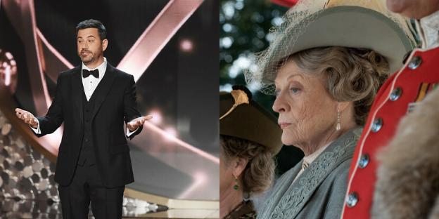 Jimmy Kimmel Tuxedo Hosts 2016 Emmy Awards Maggie Smith Downton Abbey Movie 2019