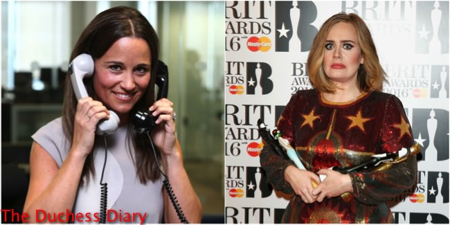 pippa middleton BCG day 2016 split image adele brit awards face